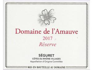 Domaine de l'Amauve, cuvée Réserve. - Domaine de l'Amauve - 2017 - Rouge