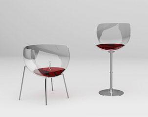 chaise vin