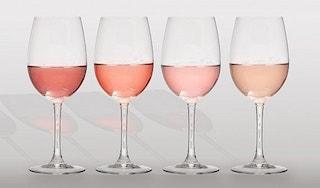 Nuances de vin rosé