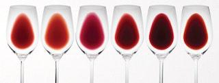 Nuances de vin rouge